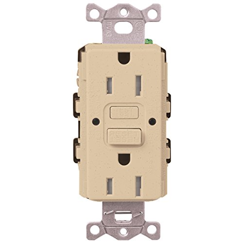 Lutron  SCR-20-GFST-DS  20-Amp  Tamper Resistant Self-Testing Receptacle, Desert Stone -  Lutron Electronics Company, Inc.