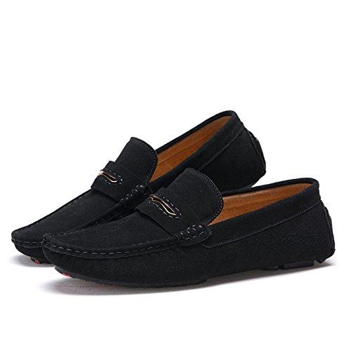 CFP - Stivali con le frange uomo, nero (Black), 40