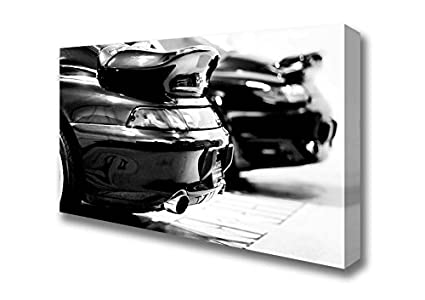 Amplia 993 y 996 Porsche Turbo Lienzo Prints, Large 20 x 40 inches