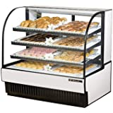 True Curved Glass Dry Bakery Display Case, 28 Cubic Ft
