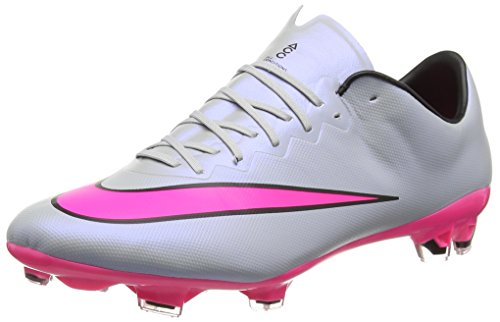 Nike Mercurial Vapor X FG, Botas de Fútbol para Hombre Gris (Grey/Pink)