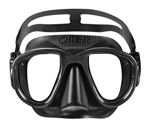 Mimetic Mask - OMER Alien Diving Mask Freediving and Spearfishing Mask Options Available (Black)