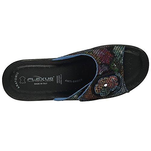 Flexus Vrouwen Fabia Essentials Slide Sandaal Zwart Multi