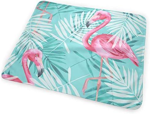 Tropical Flamingo And Palm Leaves 小さいながらも軽くて柔らかく快適な折り畳みが簡単なハイエンドのファッションシンプルなポップ絶妙なおむつパッド