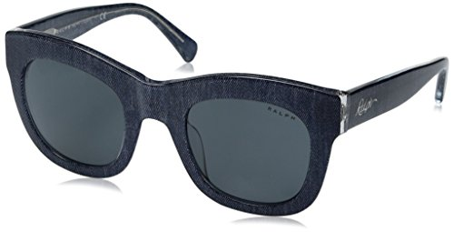Ralph Lauren Sunglasses Women's 0ra5225 Square, Blue Denim Crystal, 49 - Lauren Blue Ralph Sunglasses