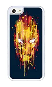 Apple Iphone 5C Case,WENJORS Cute Iron Man Soft Case Protective Shell Cell Phone Cover For Apple Iphone 5C - TPU White