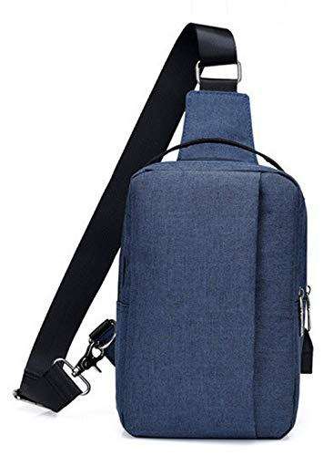 Blue Women's Satchel Zippers WeenFashion AMGBX181289 Cycling Body Cross Canvas Handbags 6wSx7zpxq