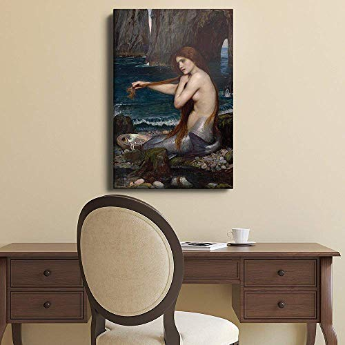 A Mermaid by John Williams Waterhouse Reproduction of The Oil Painting 1901