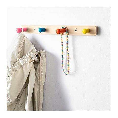 IKEA de madera los niños de pared 4 Perilla ropa perchero ...