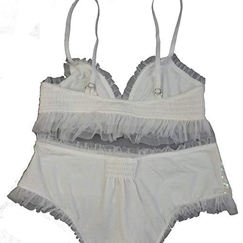 c41fdaa0f82b74 Victoria s Secret Womens White Sequin Bra Bralette   Hiphugger Set (Medium)  at Amazon Women s Clothing store