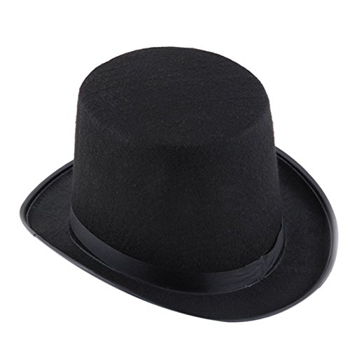 OCASHI Top Hat Tall Black Hat Halloween Costume Accessory Party Dress Up Hats Adult Size Magician Magic Hat Jazz Hat