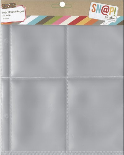 Simple Stories Snap Pocket Pages For 6 x 8-inch Binders, Multi-colour, 0.63 x