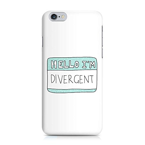 COVER Statement Spruch Quote hello divergent Design Handy Hülle Case 3D-Druck Top-Qualität kratzfest Apple iPhone 6 6S