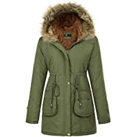 Kaancy Kole Women's Warm Winter Faux Fur Thicken Hooded (Army)