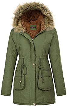 Kaancy Kole Women's Warm Winter Faux Fur Thicken Hooded