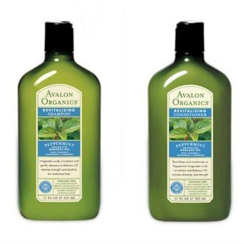 Avalon Organics Мята Восстанавливающий шампунь и кондиционер, 11 унций