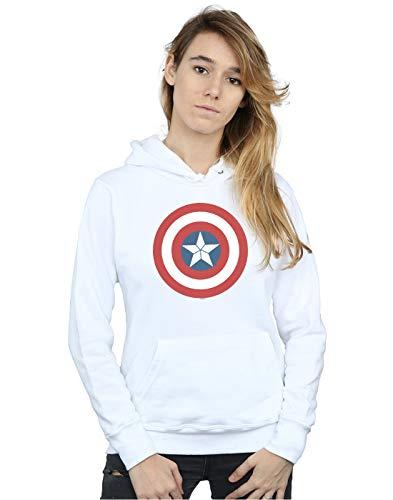 Captain Femme Blanc À War Sweat Civil America Marvel Capuche Shield HP65xfHq