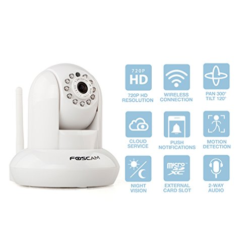 Foscam FI9821P HD 720P WiFi Security IP Camera with iOS