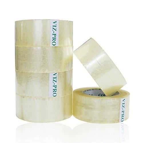viz-pro-packing-tape-2-inches-x-50-yards-6-rolls-transparent