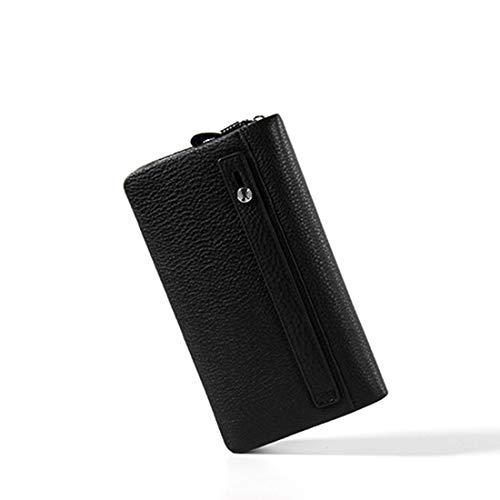 Pelle Black In color Uomo Grande Haxibkena Borsa Capacità Casual Da Pochette Di Black Carta 6B7S1wxq5E