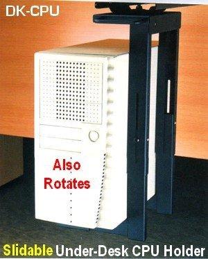 Dk-CPU Slidable Under-desk CPU Tower Holder for Desk or Table - Underdesk Cpu