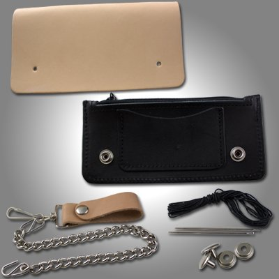 Springfield Leather Company's Black Biker Wallet - And Woman Springfield Man