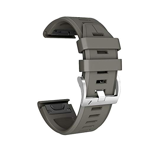 Orcbee  _Silicone Quick Release Easy Fit Wirstband Replacement for Garmin Fenix 5X Plus (Army Green)
