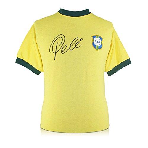 exclusivememorabilia.com Camiseta de fútbol de Brasil firmada por Pelé: Amazon.es: Deportes y aire libre