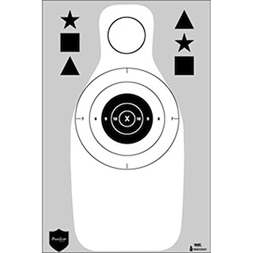 12 Pcs, Dunbar Armored Qualification Target Features A B-8 Repair Center & Full Size Fbi-Q Silhouette For Qualification Training Plus Marksmanship/Command Training Shapes Gray & Black Size: 18