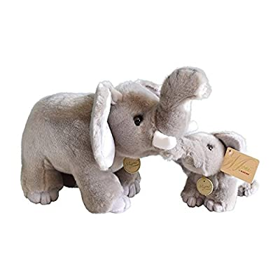 Aurora World Miyoni Stuffed Elephant Mom / Baby Set of 16 inch and 9 inch Plush…: Toys & Games