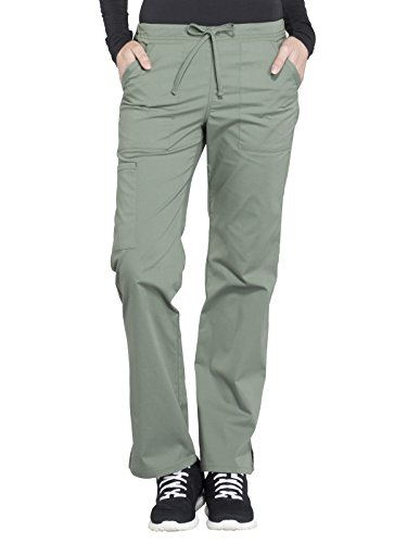 Cherokee WW Professionals WW160 Mid Rise Straight Leg Drawstring Pant Olive S ()