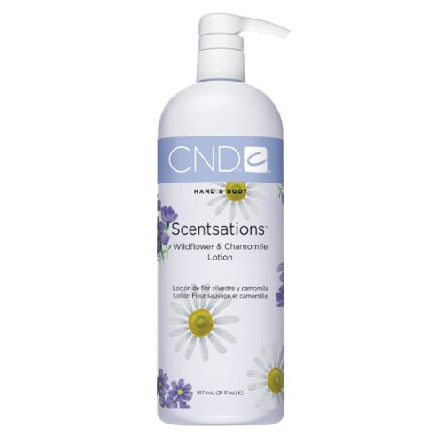 CND Creative Scentsations Hand & Body Lotion Wildflower & Chamomile, 31Fl Oz