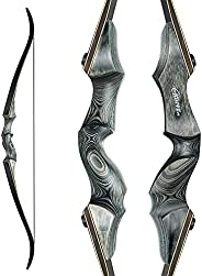 """NC93 Black Hunter Original Takedown Recurve Bow, Compact Fast Accurate 60"""" Archery Hunting Bow for Huntin"""