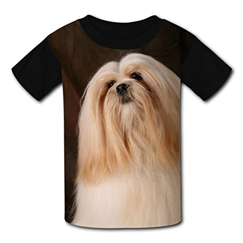 Lhasa Apso Frame (Cotton New Fashion T-Shirt 3D Personalized With Lhasa Apso For Unisex Child S)