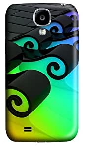 3D Colorful Waves Polycarbonate Hard Back Case Cover for Samsung Galaxy S4 SIV I9500