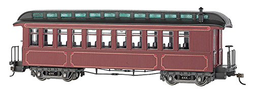 Bachmann Trains BAC26201 On30 Spectrum Convert Coach/Observation, Burgundy