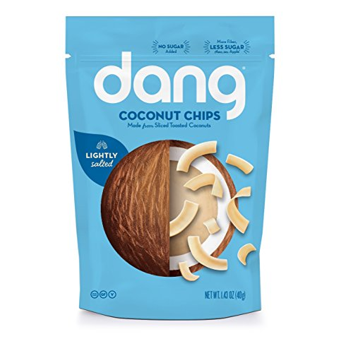 Dang Gluten Free Toasted Coconut Chips, Lighltly Salted, Unsweetened, 1.43 Ounce Bags (Pack of 12)