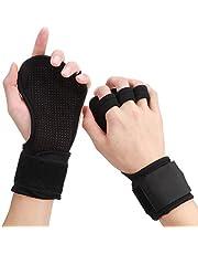 Fitness handschoenen heren, antislip trainingshandschoenen, gewichtheffen handschoenen met polssteun en palmbescherming, gym grip handschoenen voor cross en krachtsport training voor mannen en vrouwen