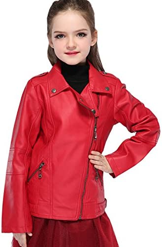 Winter Coat for Toddler Girls Motorcycle Jacket Leather Children Outerwear