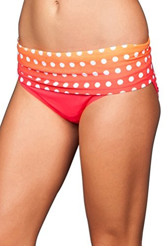 Coco Reef Women's Coral Bahamas in Control Brief Bottom (Large, Coral)