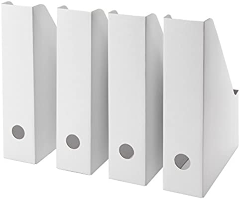IKEA FLUNS White Magazine File White - Set of 8  sc 1 st  Amazon.com & Amazon.com : IKEA FLUNS White Magazine File White - Set of 8 ...