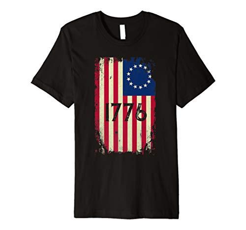 Betsy Ross Shirt 4th Of July American Flag  1776 Vintage  Premium T-Shirt