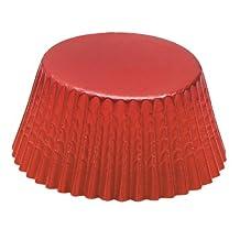 Fox Run 4926 Red Foil Bake Cups, Standard, 32 Cups