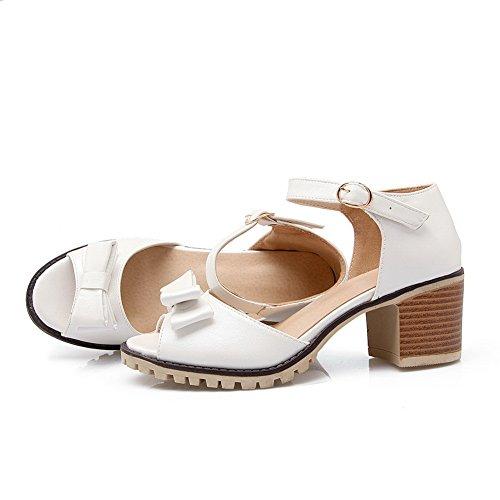 de Blanco DIU00578 uretano plataforma para piernas con hebilla mujer de porcelana Sandalias de z7fqwA