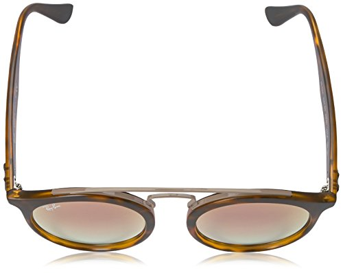 Ray-Ban Injected Unisex Round Sunglasses, Matte Havana, 49 mm
