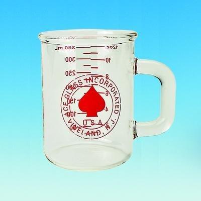 ACE GLASS 5324-10 Series Beaker Mug, Heavy Duty, Graduated, 400 mL Capacity