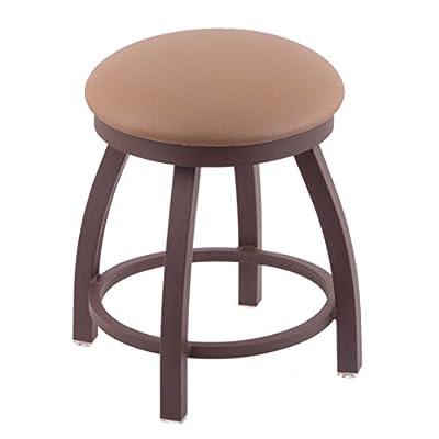 "802 Misha 18"" Vanity Stool with Bronze Finish and Swivel Seat"