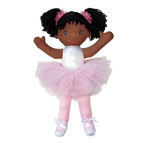 """Search : Anico Well Made Play Doll For Children Ballerina with Pigtails, African American, 18"""" Tall, Pink"""