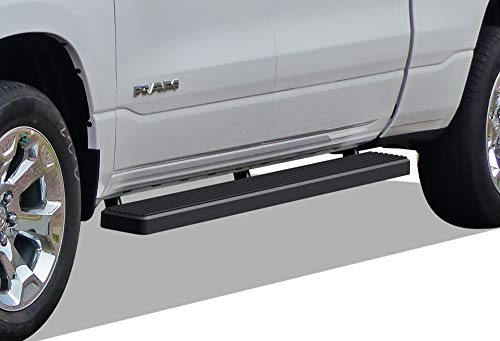 iBoard Running Boards (Nerf Bars | Side Steps | Step Bars) for 2019-2020 Ram 1500 Crew Cab Pickup 4Dr for New Body Style ONLY (Will Not Fit 2018 Model Build in 2019) | (Black Powder Coated 5 inches)