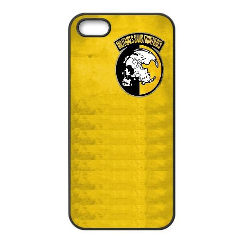 Militaires Sans Frontieres Logo 33 333 coque iPhone 4 4S Housse téléphone Noir de couverture de cas coque EOKXLKNBC25715